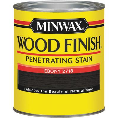 Minwax Wood Finish Penetrating Stain, Ebony, 1 Qt.