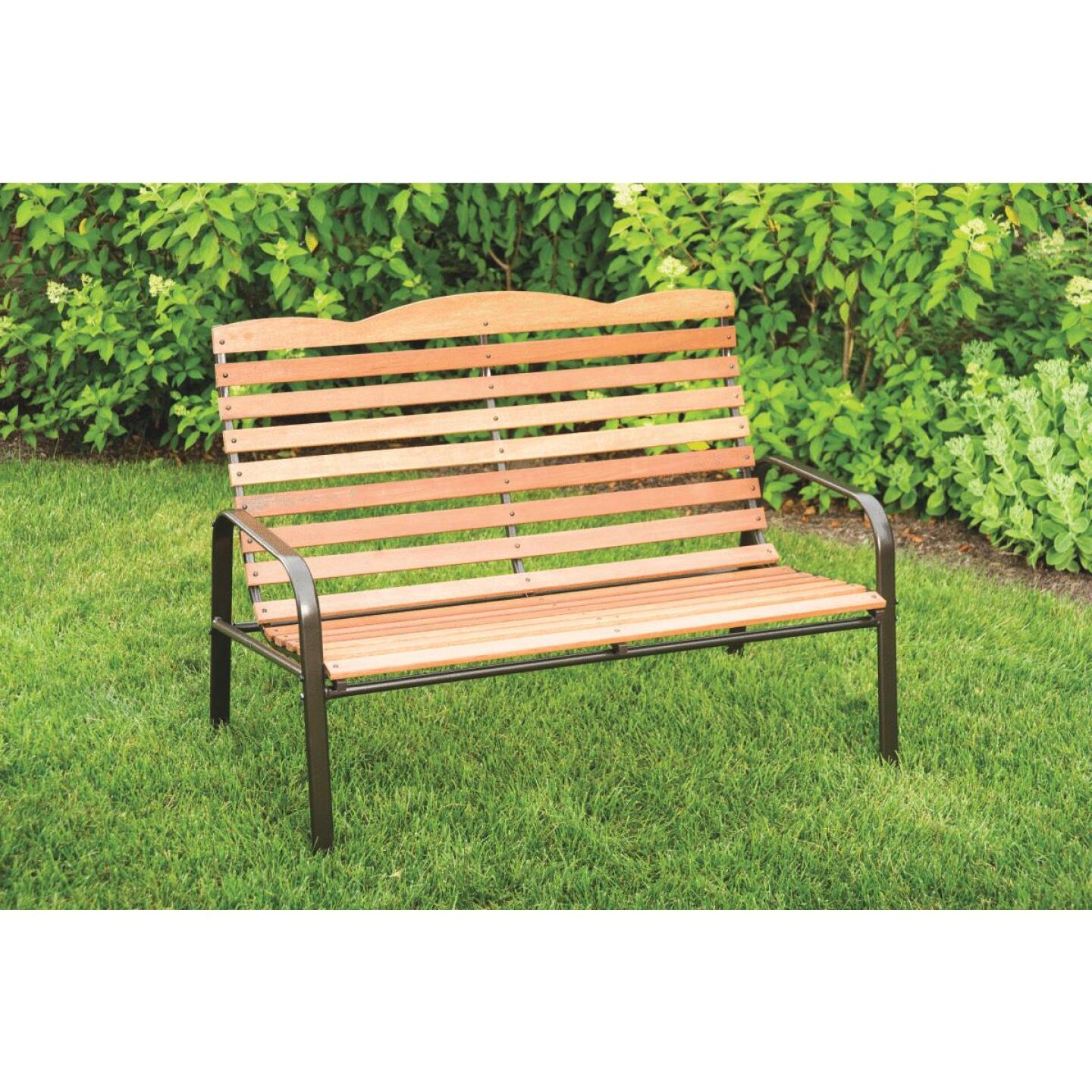 Jack Post Natural Steel 28.75 In. W. x 36.75 In. H x 71.75 In L Bench Image 6