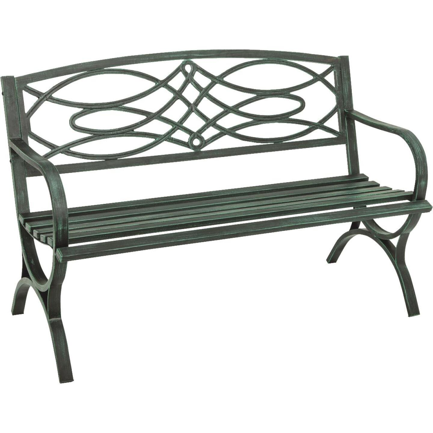 Outdoor Expressions Steel Scroll Bench Image 1