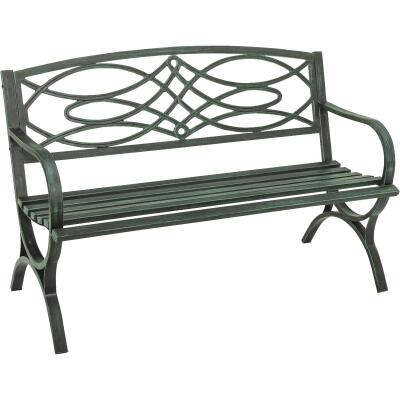 Outdoor Expressions Steel Scroll Bench