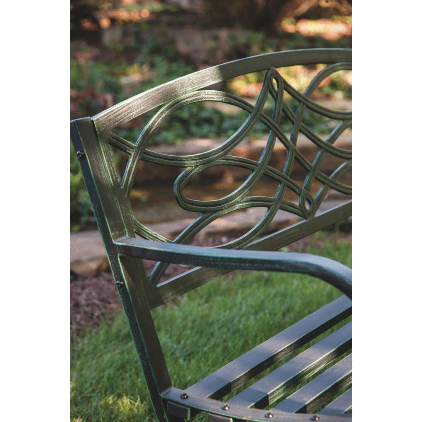 Outdoor Expressions Steel Scroll Bench Image 3