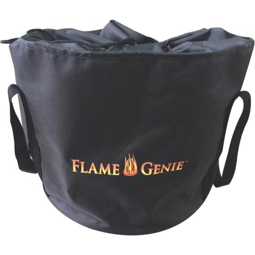 Flame Genie 21 In. H. x 26 In. L. x 26 In. D. Black Canvas Fire Pit Cover