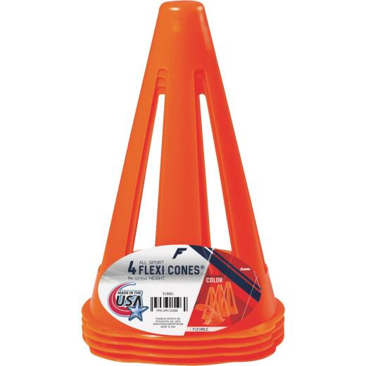 Franklin Flexi Cones 9 In. Field Marker Cone (4-Pack)