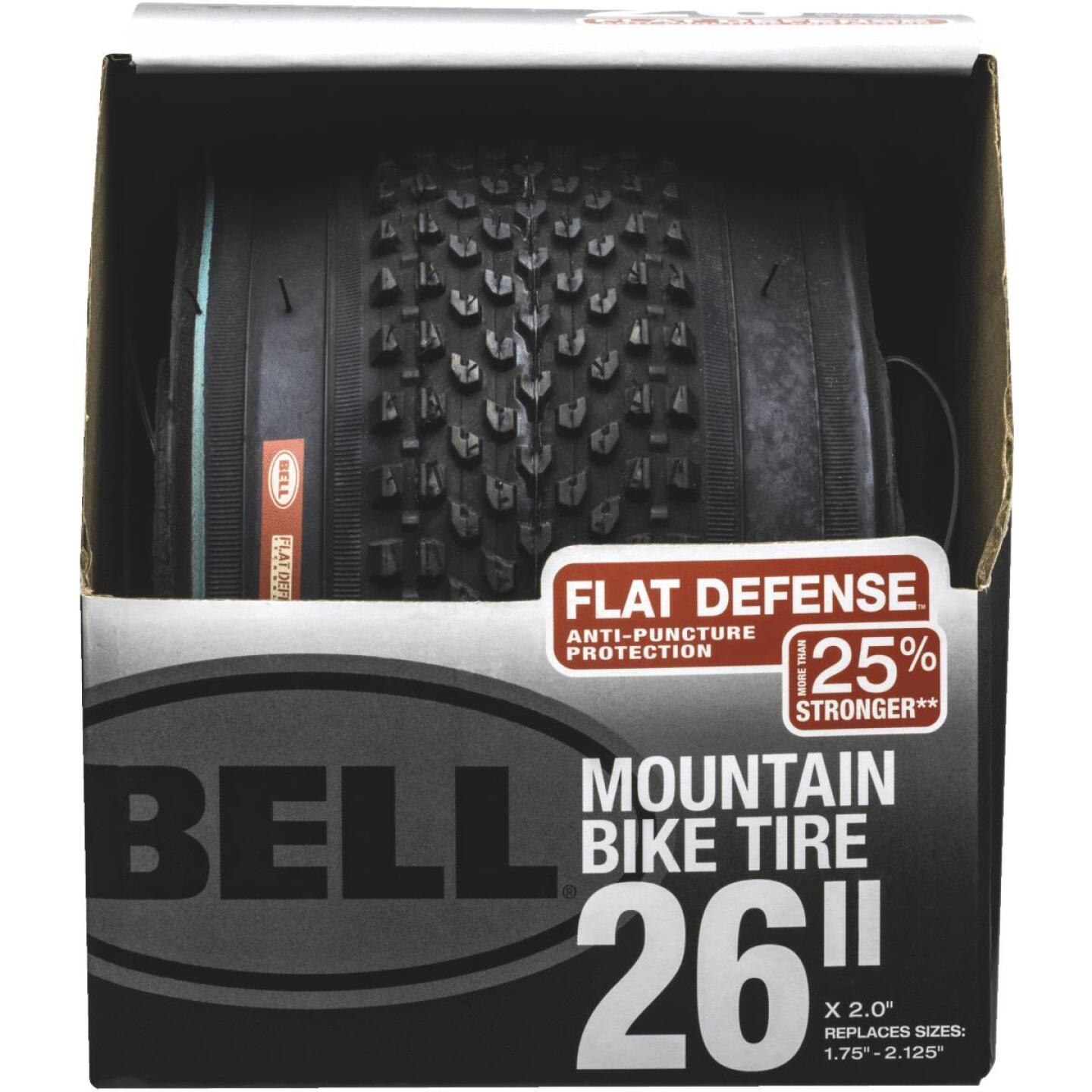 Bell 26 In. Traction Mountain Bike Tire with Flat Defense Image 1