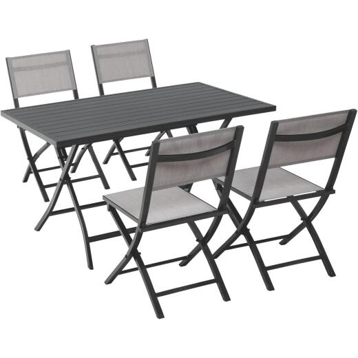 Outdoor Expressions Ash 5-Piece Aluminum Folding Dining Set